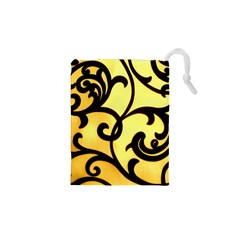 Texture Pattern Beautiful Bright Drawstring Pouches (xs)