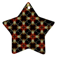 Kaleidoscope Image Background Ornament (star)