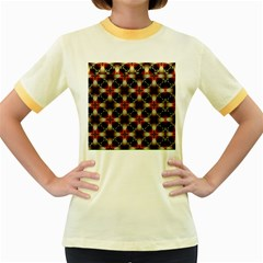 Kaleidoscope Image Background Women s Fitted Ringer T Shirts