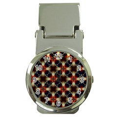 Kaleidoscope Image Background Money Clip Watches by Nexatart