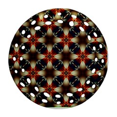 Kaleidoscope Image Background Ornament (round Filigree) by Nexatart