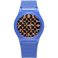 Kaleidoscope Image Background Round Plastic Sport Watch (s)
