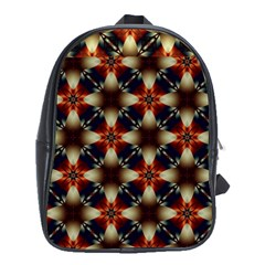 Kaleidoscope Image Background School Bags (xl)  by Nexatart