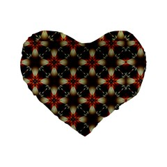Kaleidoscope Image Background Standard 16  Premium Heart Shape Cushions