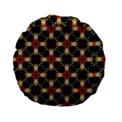 Kaleidoscope Image Background Standard 15  Premium Flano Round Cushions