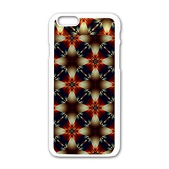 Kaleidoscope Image Background Apple Iphone 6/6s White Enamel Case by Nexatart
