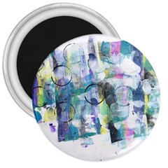 Background Color Circle Pattern 3  Magnets