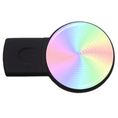 Dilute Rainbow Vortex Bg USB Flash Drive Round (1 GB) by TailWags