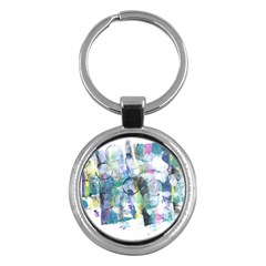 Background Color Circle Pattern Key Chains (round)  by Nexatart