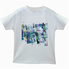 Background Color Circle Pattern Kids White T Shirts