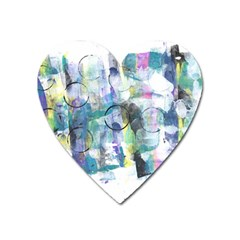 Background Color Circle Pattern Heart Magnet by Nexatart