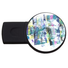 Background Color Circle Pattern Usb Flash Drive Round (4 Gb)