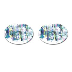 Background Color Circle Pattern Cufflinks (oval) by Nexatart