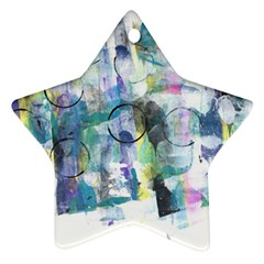 Background Color Circle Pattern Star Ornament (two Sides) by Nexatart