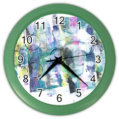 Background Color Circle Pattern Color Wall Clocks