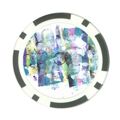 Background Color Circle Pattern Poker Chip Card Guard by Nexatart