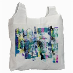 Background Color Circle Pattern Recycle Bag (one Side)