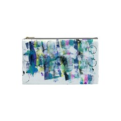 Background Color Circle Pattern Cosmetic Bag (small)  by Nexatart