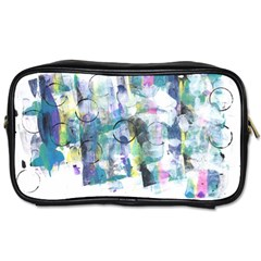 Background Color Circle Pattern Toiletries Bags 2 Side by Nexatart