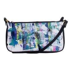 Background Color Circle Pattern Shoulder Clutch Bags by Nexatart