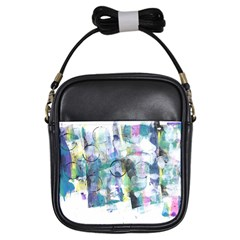 Background Color Circle Pattern Girls Sling Bags by Nexatart