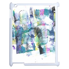 Background Color Circle Pattern Apple Ipad 2 Case (white) by Nexatart
