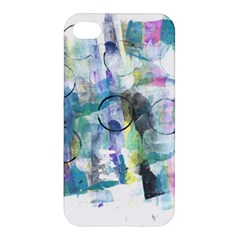 Background Color Circle Pattern Apple Iphone 4/4s Premium Hardshell Case by Nexatart