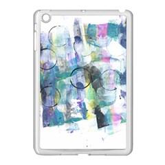 Background Color Circle Pattern Apple Ipad Mini Case (white) by Nexatart