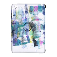 Background Color Circle Pattern Apple Ipad Mini Hardshell Case (compatible With Smart Cover)