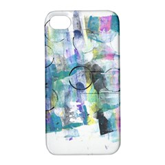 Background Color Circle Pattern Apple Iphone 4/4s Hardshell Case With Stand by Nexatart