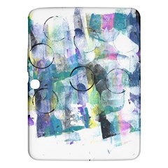 Background Color Circle Pattern Samsung Galaxy Tab 3 (10 1 ) P5200 Hardshell Case  by Nexatart