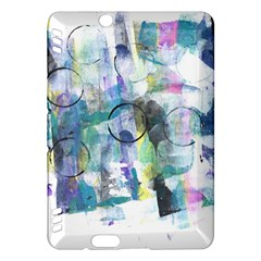 Background Color Circle Pattern Kindle Fire Hdx Hardshell Case by Nexatart