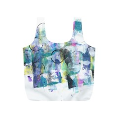 Background Color Circle Pattern Full Print Recycle Bags (s)