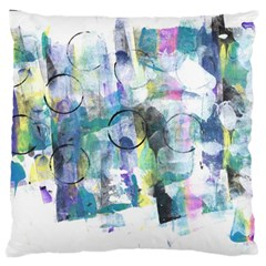 Background Color Circle Pattern Large Flano Cushion Case (two Sides) by Nexatart