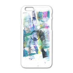 Background Color Circle Pattern Apple Iphone 6/6s White Enamel Case by Nexatart