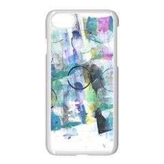 Background Color Circle Pattern Apple Iphone 7 Seamless Case (white) by Nexatart