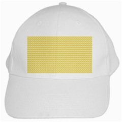 Pattern Yellow Heart Heart Pattern White Cap