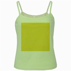 Pattern Yellow Heart Heart Pattern Green Spaghetti Tank