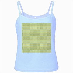 Pattern Yellow Heart Heart Pattern Baby Blue Spaghetti Tank