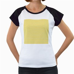 Pattern Yellow Heart Heart Pattern Women s Cap Sleeve T