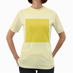 Pattern Yellow Heart Heart Pattern Women s Yellow T-Shirt