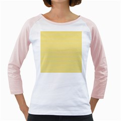 Pattern Yellow Heart Heart Pattern Girly Raglans