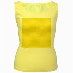 Pattern Yellow Heart Heart Pattern Women s Yellow Tank Top