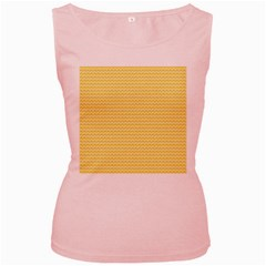 Pattern Yellow Heart Heart Pattern Women s Pink Tank Top