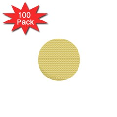 Pattern Yellow Heart Heart Pattern 1  Mini Buttons (100 pack)