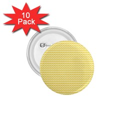 Pattern Yellow Heart Heart Pattern 1.75  Buttons (10 pack)