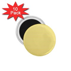 Pattern Yellow Heart Heart Pattern 1.75  Magnets (10 pack)