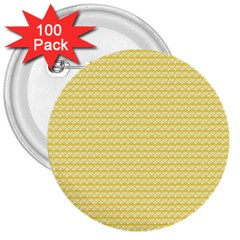 Pattern Yellow Heart Heart Pattern 3  Buttons (100 pack)