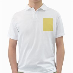 Pattern Yellow Heart Heart Pattern Golf Shirts