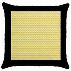 Pattern Yellow Heart Heart Pattern Throw Pillow Case (Black)